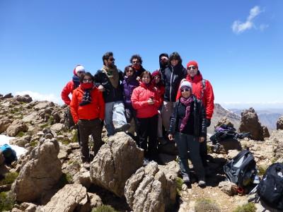 In vetta all monte Agouti 3500mt.