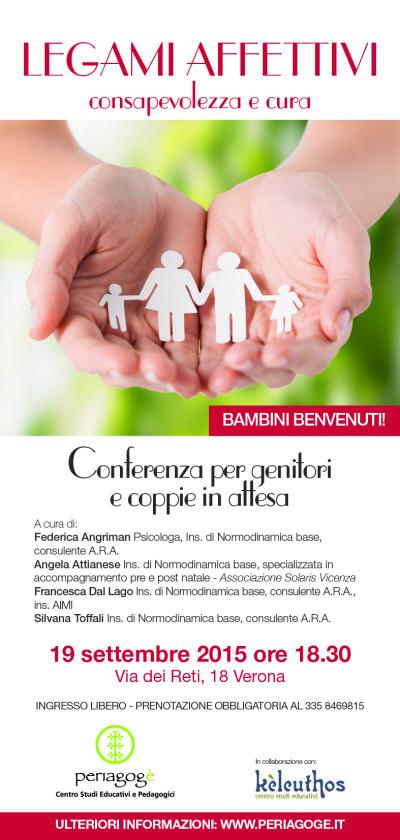 Conferenza per genitori e coppie in attesa. Organizzata da Kèleuthos e Periagogè - Centro Studi Educativi e Pedagogici.