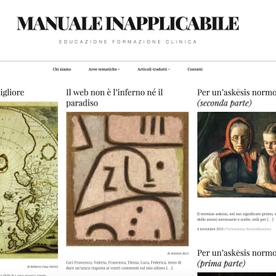 Home page del blog Manuale Inapplicabile