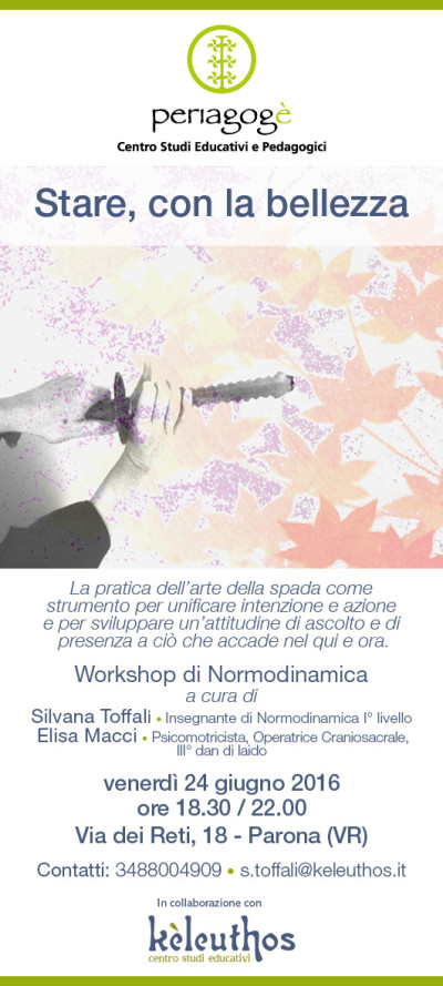 Stare con la bellezza - Workshop di Normodinamica